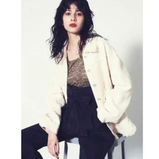 リリーブラウン(Lily Brown)のリリーブラウン  ツイードビッグジャケット ホワイト 可愛い(テーラードジャケット)