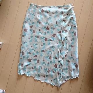 アルファキュービック(ALPHA CUBIC)のアルファキュービック  アシンメトリー スカート グリーン系 (ひざ丈スカート)