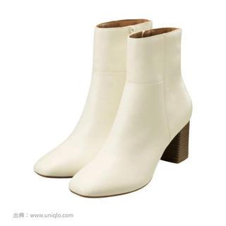 ジーユー(GU)のGU スクエアトゥヒールブーツ Mサイズ(ブーツ)