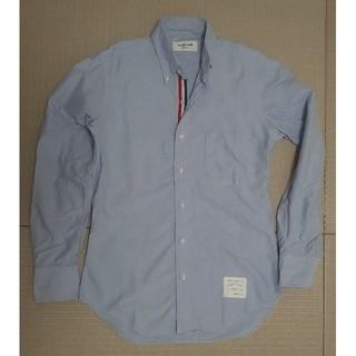 トムブラウン(THOM BROWNE)のトムブラウン オックスシャツ ブルー トリコカラー (シャツ)