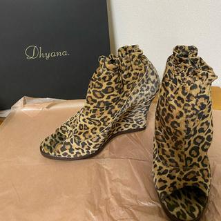 Dhyana - 大人気 レオパード シューズ ブーティ 豹柄