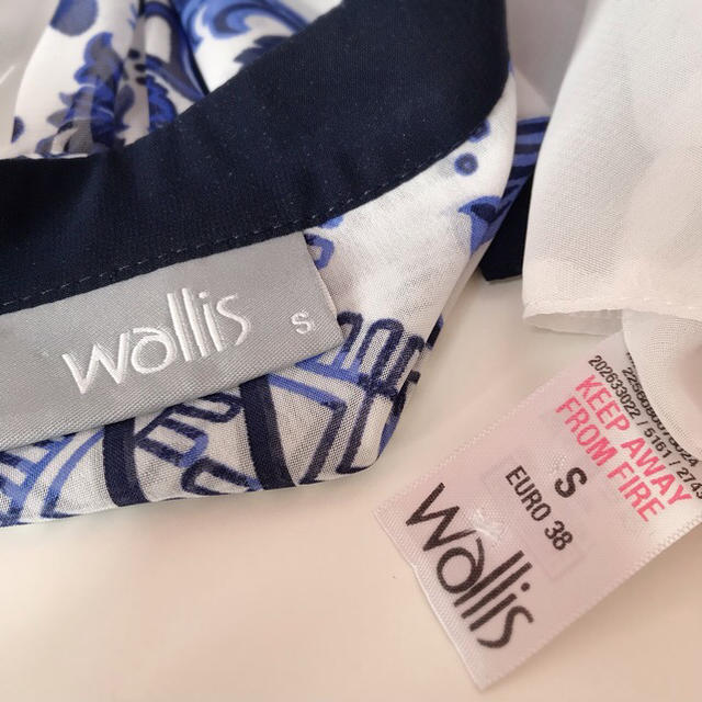 Wallis(ウォリス)の英国ブランド wallis スカーフ柄 ブラウス レディースのトップス(シャツ/ブラウス(長袖/七分))の商品写真