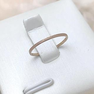 K18 艶消し ピンキー リング☺︎(リング(指輪))