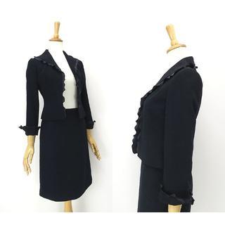 M'S GRACY - M's GRACY エムスグレイシー サテンフリルエッジ◎スカートスーツ