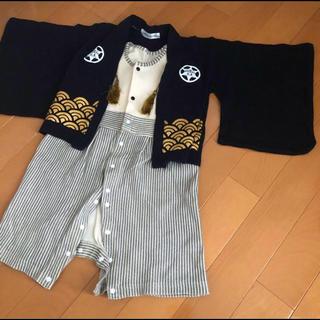 やまたーれ様専用 袴 初節句 男の子サイズ90 ロンパース 一体型 ロンパース(和服/着物)