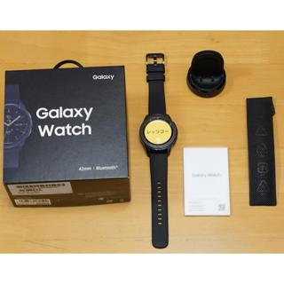 サムスン(SAMSUNG)のGalaxy Watch(ギャラクシーウォッチ)42mm 黒 スマートウォッチ(腕時計(デジタル))