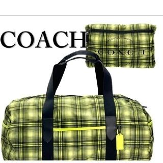 コーチ(COACH)のコーチ COACH ボストンバッグ F37829 QBO27 ネオンイエロー(ボストンバッグ)
