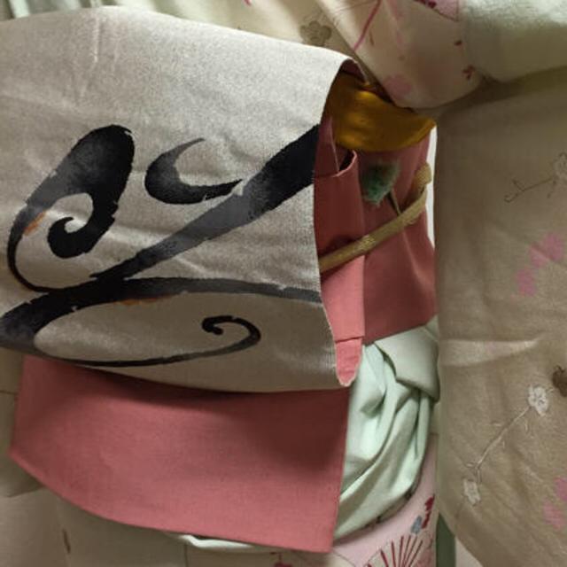 ピンクの名古屋帯 レディースの水着/浴衣(着物)の商品写真