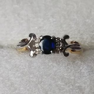 ジュエリーマキ(ジュエリーマキ)のK18 Pt850 サファイア ダイヤモンド コンビリング(リング(指輪))