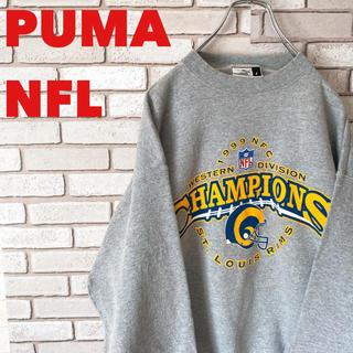 プーマ(PUMA)の【激レア】PUMA プーマ NFLコラボ スウェットビッグロゴ 90s (スウェット)