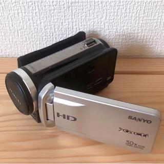 サンヨー(SANYO)のSANYO Xacti〔ザクティ〕 DMX-TH1(S)  SDカード付(ビデオカメラ)