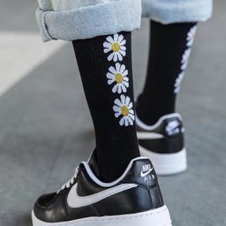 ファッションソックス 韓国風靴下 お洒落 サイズフリー23-28cm 一足分(ソックス)