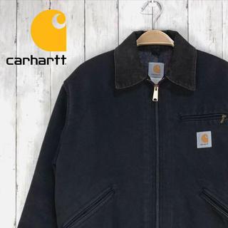 カーハート(carhartt)のcar heart 黒デトロイトジャケット(Gジャン/デニムジャケット)