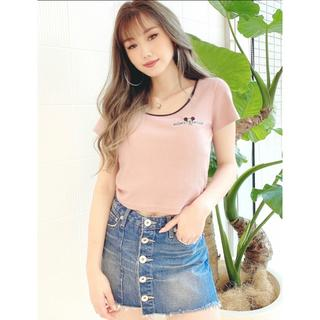 ジェイダ(GYDA)のMICKEY MOUSE/リンガーテレコTシャツ(Tシャツ(半袖/袖なし))