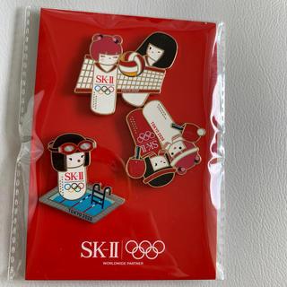 エスケーツー(SK-II)の新品未開封 SKⅡ SK-II オリジナルピンバッジ 卓球 水泳 バレーボール(バッジ/ピンバッジ)