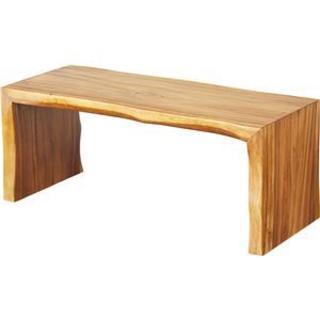 ベンチ型 センターテーブル【約幅100cm×奥行40cm×高さ41cm】 木製 (ローテーブル)