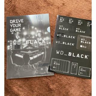 WD BLACK ミニファイル ステッカー(クリアファイル)