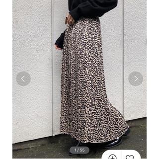 ページボーイ(PAGEBOY)のPAGEBOY/レオパード柄/プリーツスカート(ロングスカート)