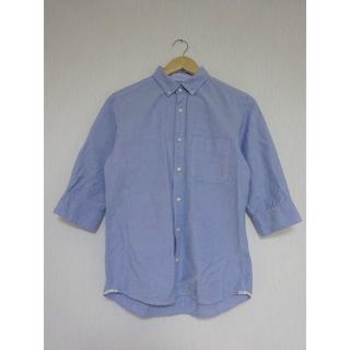 デラックス(DELUXE)のDELUXE 七分袖 シャンブレーボタンダウンシャツ(シャツ)
