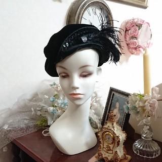 カシラ(CA4LA)の80s vintage hat ヴィンテージ ベロア ベレー帽(ハンチング/ベレー帽)