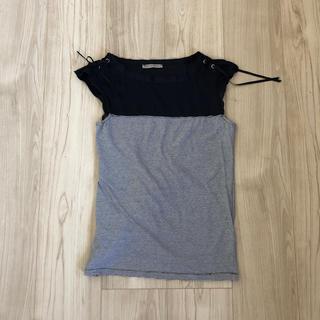 エルマンノシェルヴィーノ(ERMANNO SCHERVINO)の海外ERMANNOSCERVINOエルマンノシェルヴィーノ紺色カットソー140(Tシャツ/カットソー)