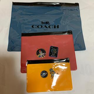 コーチ(COACH)のCOACH  薄ポーチ大中小セット(その他)