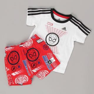 アディダス(adidas)の新品 adidas マーベル / スパイダーマン セットアップ  80cm(Tシャツ)