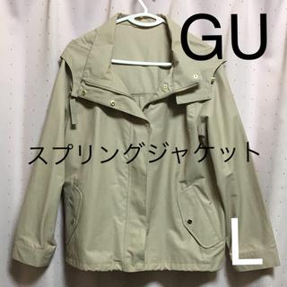 ジーユー(GU)のGU スプリングコート ジャケット フード付き *この時期にぴったり*(スプリングコート)