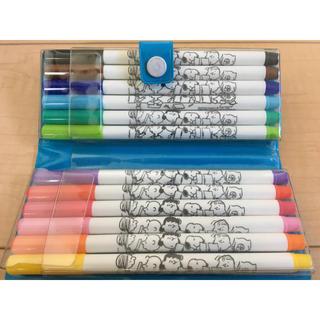 スヌーピー(SNOOPY)のスヌーピー 12色 サインペン マーカー マジック(カラーペン/コピック)