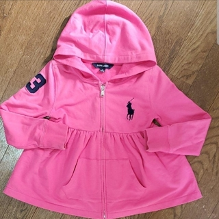 Ralph Lauren - RALPH LAUREN ピンク キッズパーカー 120  女の子