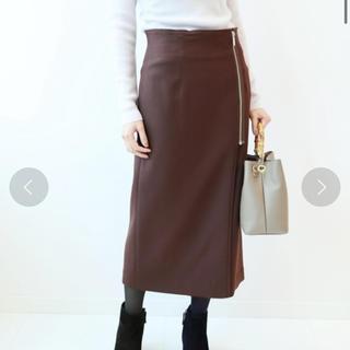 ノーブル(Noble)のノーブル ジップタイトスカート(ひざ丈スカート)
