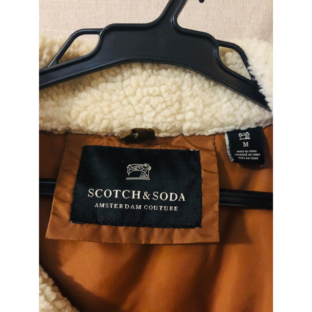 SCOTCH & SODA(スコッチアンドソーダ)のSCOTCH & SODA ダウンベスト レザーコーディロイ メンズのジャケット/アウター(ダウンベスト)の商品写真