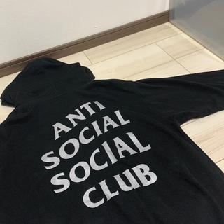 シュプリーム(Supreme)のANTI SOCIAL SOCIAL CLUB プルオーバーパーカー シルバー(パーカー)