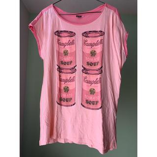 アンディウォーホル(Andy Warhol)のアンディ・ウォーホル プリントTシャツ(Tシャツ(半袖/袖なし))