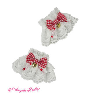 Angelic Pretty - Angelic pretty Heart Cafeお袖とめ アカ