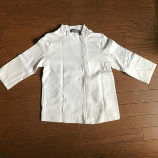 オゾック(OZOC)のOZOC ショート7分袖ジャケット(ノーカラージャケット)