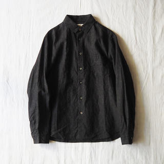 ネストローブ(nest Robe)のCONFECT インクコーティングリネンレギュラーカラーシャツ(シャツ)