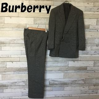 BURBERRY - 【人気】Burberry ウールスーツセットアップ ツイード柄 グレー系