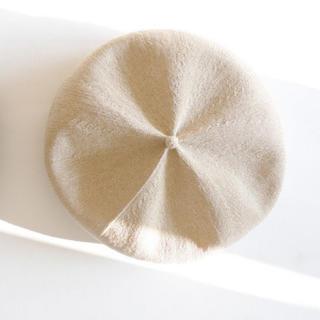 ネストローブ(nest Robe)のberet top gather big silk ライトベージュ(ハンチング/ベレー帽)