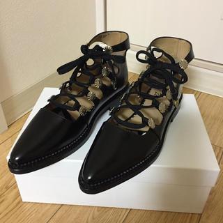 トーガ(TOGA)のtoga pulla ギリーシューズ 37 新品未使用(ローファー/革靴)