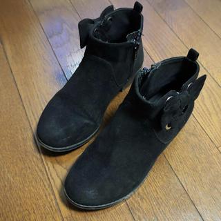 ザラ(ZARA)のZARAGIRL スエードハーフブーツ 21cm(ブーツ)