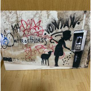 Banksy バンクシー アートパネル supreme などstreet好きに(ボードキャンバス)