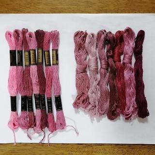 オリンパス(OLYMPUS)の刺繍糸 OLYMPUS★ピンク 14本 オリムパス 25番 刺しゅう糸(生地/糸)