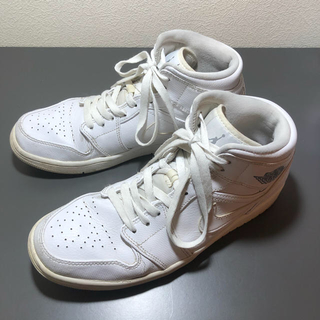 ナイキ(NIKE)のNIKE AIR JORDAN 1 MID white 27.5cm(スニーカー)