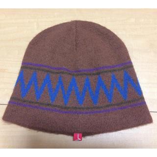 ウィズ(whiz)のWHIZ ウィズ ニット帽 キャップ ブラウン 茶色(ニット帽/ビーニー)