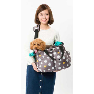 『たんぽぽ様専用』ハンナフラ 2WAYキャリーバッグ バブルコットン (犬)