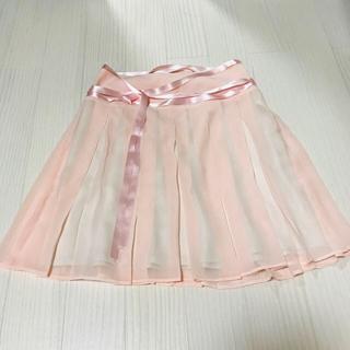 オリゾンティー(ORIZZONTI)の格安❗️美品☆オリゾンティ MU のプリーツスカート(ひざ丈スカート)