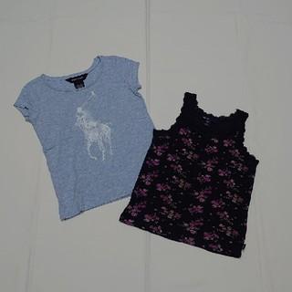 ラルフローレン(Ralph Lauren)のラルフローレンギャップ110cm半袖キャミソール女の子2点セット(Tシャツ/カットソー)