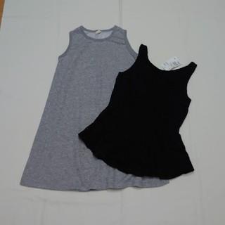 エイチアンドエム(H&M)の新品H&Mレースタンクトップワンピース140cm女の子2点セット(ワンピース)