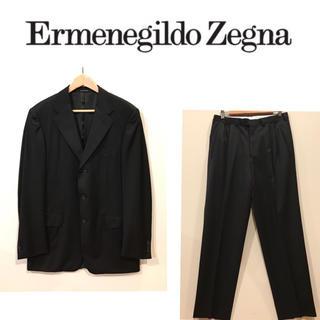 エルメネジルドゼニア(Ermenegildo Zegna)のゼニア ブラックスーツ  【超美品】(セットアップ)